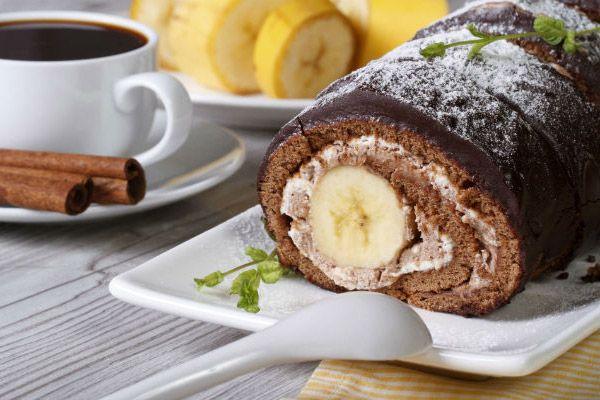 Lisztmentes csokis-banános tekercs