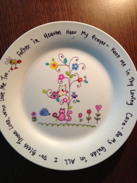 This Is A Regular Plate You Use A Sharpie And Paint For