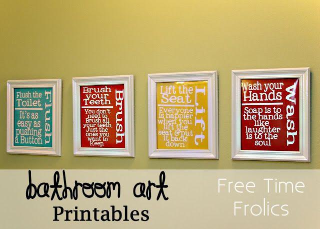Free Time Frolics: Bathroom {Art} Printables #freeprintable