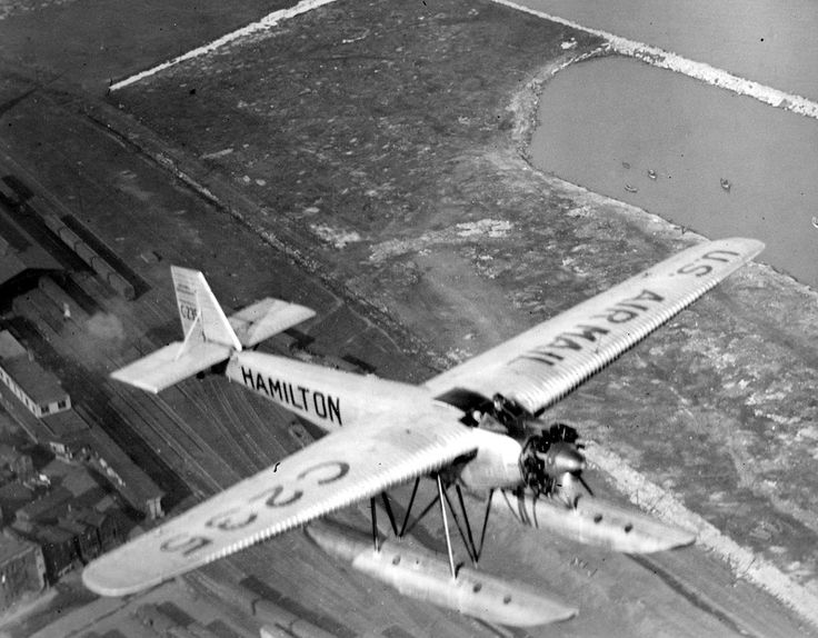 Hamilton H-18  Maiden Milwaukee  in flight with an open canopy and Hamilton floats (1927).Reg235 Ser42 - the first Hamilton Metalplane called the u2026 & Hamilton H-18