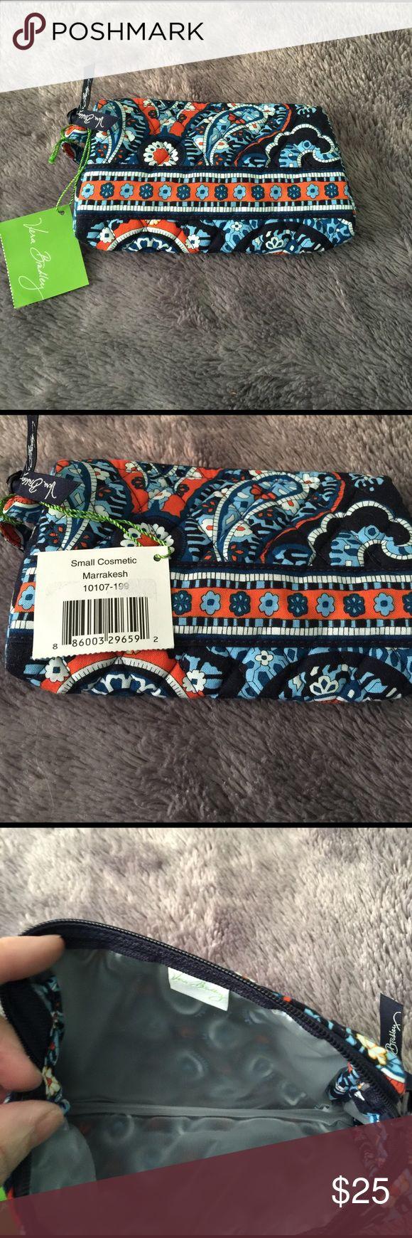 "Vera Bradley Marrakesh small Cosmetic bag Great travel bag for makeup or jewelry 7"" x 5"" Vera Bradley Bags Cosmetic Bags & Cases"