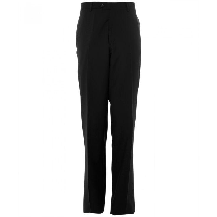 Pantalón Tommy Hilfiger de corte regular con tejido liso café sin pinzas bragueta de cierre y cinco bolsillos.