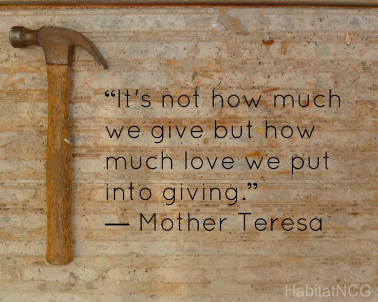It's not how much we give but how much love we put into giving.  #volunteer Lancers Lend a Hand tshirt?