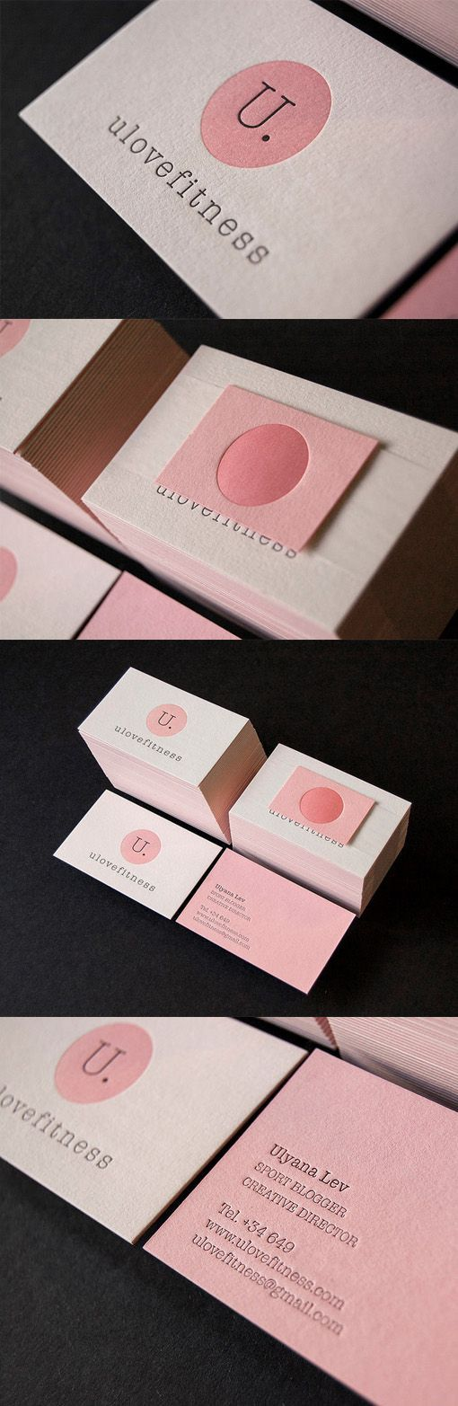Slick Modern Letterpress Business Card For A Sports Blogger: