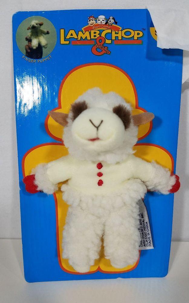 lamb chop finger puppet plush toy #PeoplePals