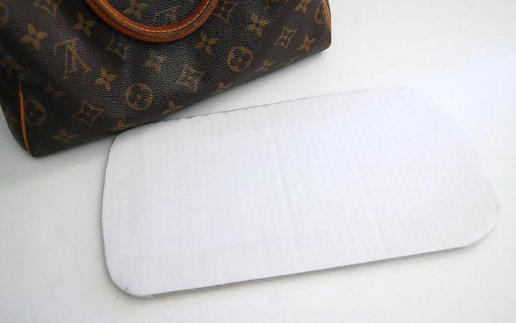 Diy how to make bag handbag shaper form fix saggy misshapen purse diy pinterest diy purse
