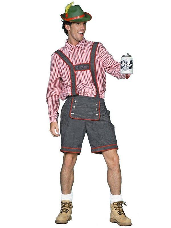 Lederhosen Grå - Oktoberfest kostyme for voksne