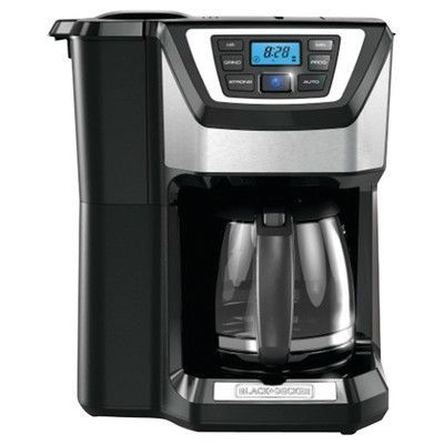 Black & Decker 12 Cup Mill and Brew Coffee Maker Color: Black