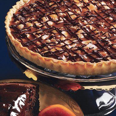 Chocolate-Caramel Macadamia Nut Tart. #pie #shop #atlanta #buckhead #slice #dessert #yum #sweet #baking #kitchen #tradition #sweet #savory #lunch #pieshop #wedding #birthday #specialorder www.the-pie-shop.com