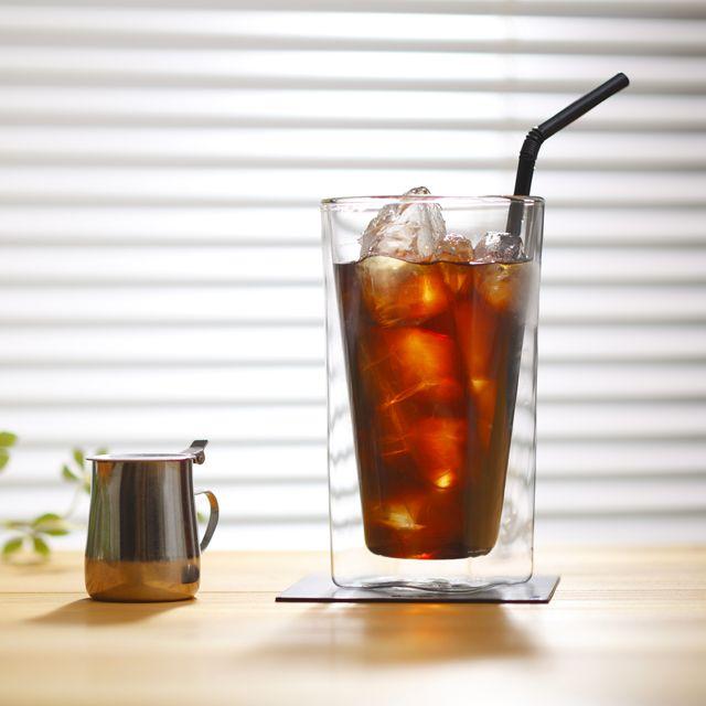 ダブルウォールグラス Rayes レイエス 本店直販サイト Rds 002l 400ml 焼き付け名入れオプション対応 アイスコーヒー 焼き付け グラス