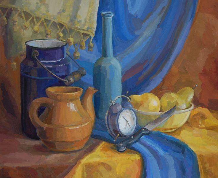 Просмотреть иллюстрацию Натюрморт с грушами из сообщества русскоязычных художников автора aniretake.m в стилях: Академический рисунок, графика, живопись, нарисованная техниками: Гуашь.