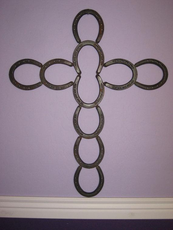 Horseshoe Cross by cowgirlblinging on Etsy, $45.00