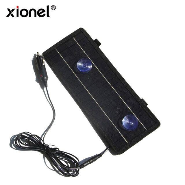 Xionel Portable Solar Panel 12v 4 5w Solar Charger Module For Car Automobile Boat Rechargeable Power Battery Review Solar Cells Portable Solar Panels Solar Charger Solar Panels