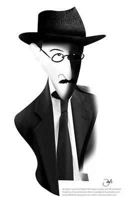 Depus a máscara e vi-me ao espelho. —  Era a criança de há quantos anos.  Não tinha mudado nada...  Álvaro de Campos