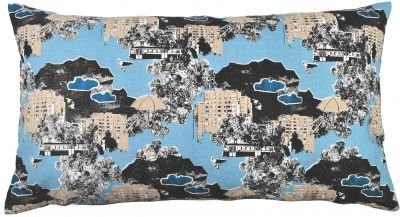 Mairo Kung Bore pillow case. Designed by Anna Backlund.