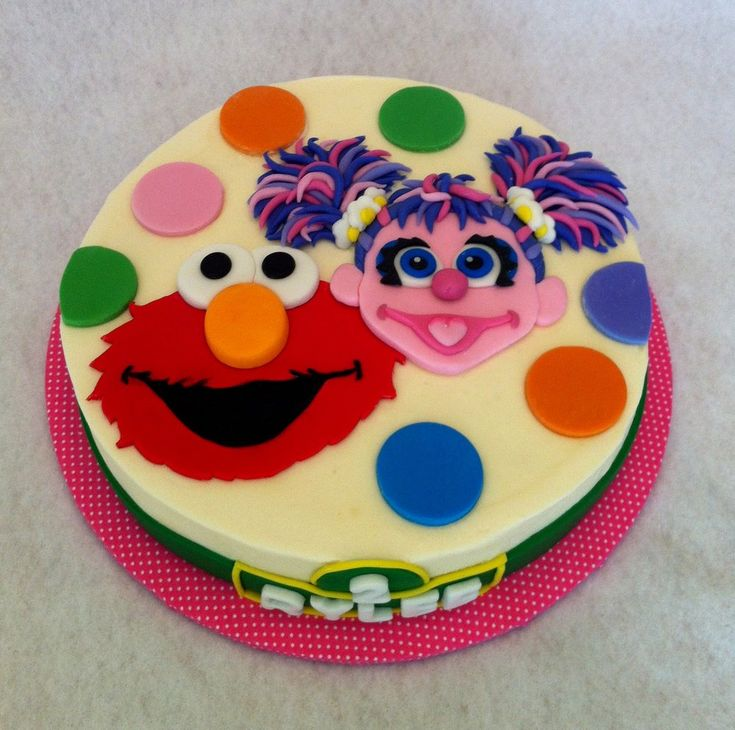 Sesame Street Cake with Elmo and Abby Cadabby Yelp ...