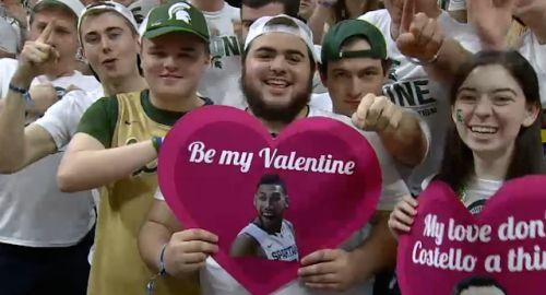 Denzel Valentine stars in Michigan State's... #ValentinesDay: Denzel Valentine stars in Michigan State's Valentine's Day… #ValentinesDay