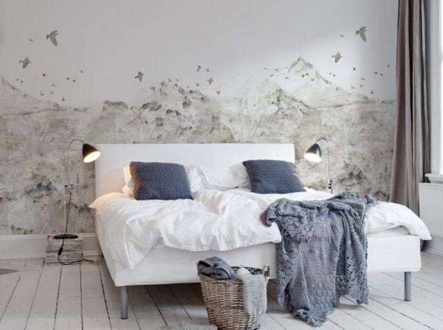 Un papier peint noir et blanc pour un mur élégant | { inspiration ...