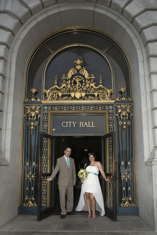 She really looked fabulous, and John was beaming love at her all day. Of course with a baby on the way, their budget was tight and this was a great way to have their friends and family join them for their vows at a building that's also a historic landmark, and for a very reasonable price. #sanfranciscocityhallphotographer #maternitywedding #sfcityhallwedding www.rachellevinephoto.com