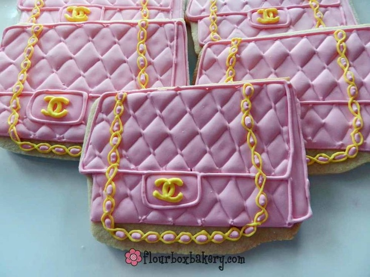 Chanel purse cookies!