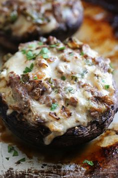 It doesn't get much better than a low-carb, Philly Cheesesteak Stuffed in a Portobello Mushroom! Steak and mushrooms work so well together, so why not make stuff them with this cheesy deliciousness!