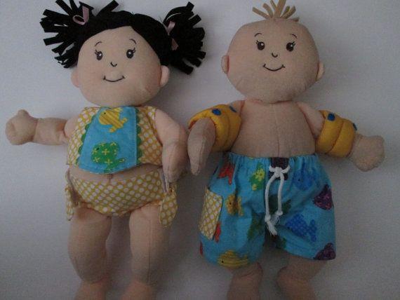 """Fits Baby Stella 15"""" doll PDF Tankini Swim Trunks and"""