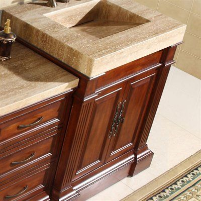 Silkroad Exclusive Travertine Top Single Sink Vanity Cabinet   Shopping   The Best Deals on Bathroom Vanities. 78 Best images about Bathroom ideas on Pinterest   Square shower