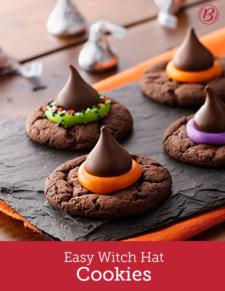 Hosting a Halloween party? Let guests decorate their own witch-y cake-mix…