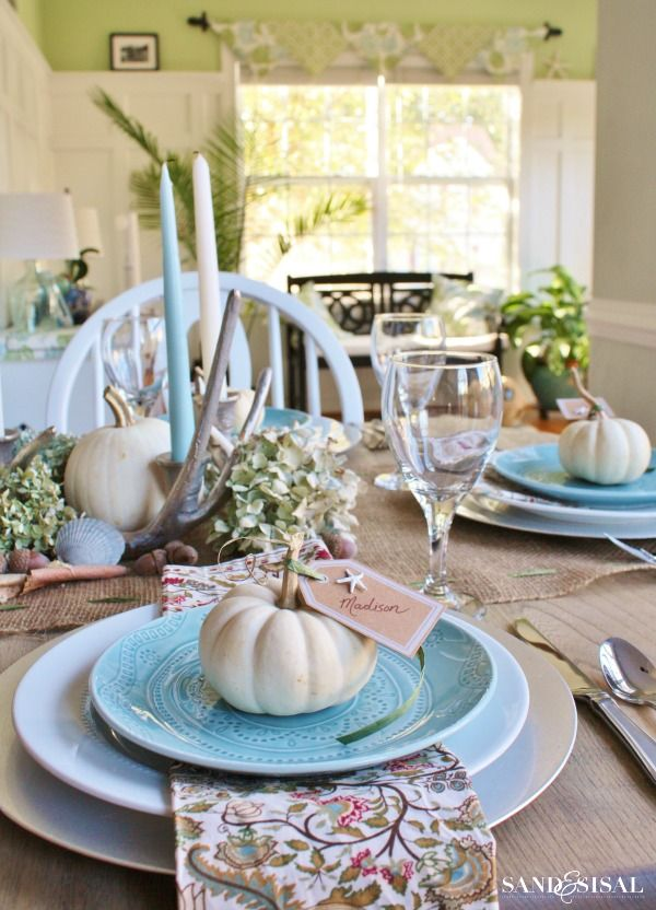 Coastal Thanksgiving Table 343 best Cottage images