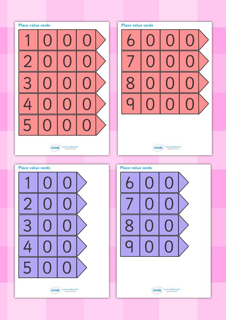twinkl resources place value arrow cards classroom printables for pre school kindergarten. Black Bedroom Furniture Sets. Home Design Ideas