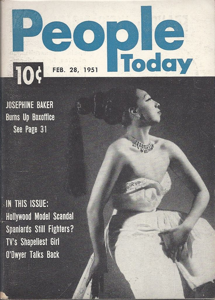 FEB 28 1951 PEOPLE TODAY MAGAZINE VOL.2 #5 (Josephine Baker)