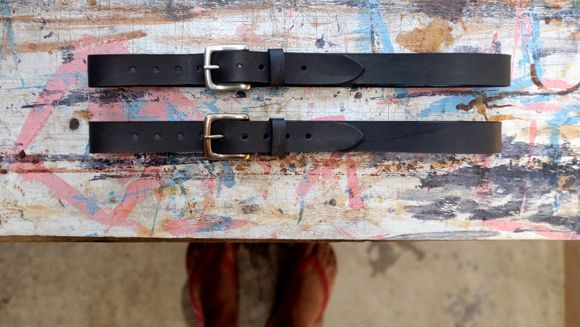 Veg tan belts by Bark and Mill