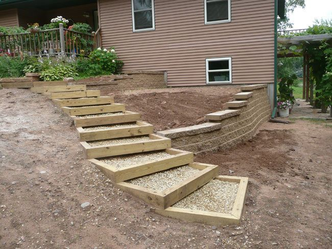 large stepping stones in gravel lined with belgian blocks - Google Search