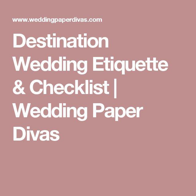 Destination Wedding Etiquette & Checklist | Wedding Paper Divas