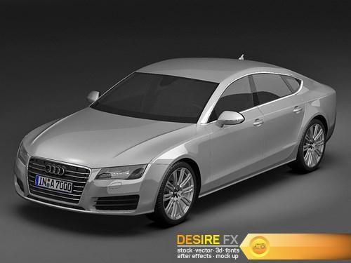 Audi A7 Sportback 3D 2011 3D Model  http://www.desirefx.me/audi-a7-sportback-3d-2011-3d-model/