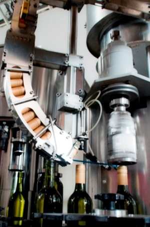 The automatic bottling system.