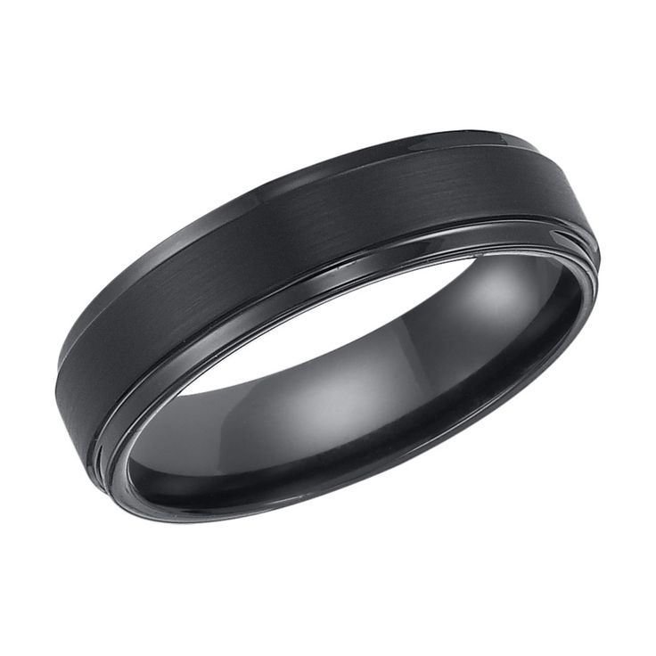 Cambridge Black Tungsten Carbide 6mm Comfort-fit Wedding Band | Overstock.com Shopping - Big Discounts on Cambridge Men's Rings