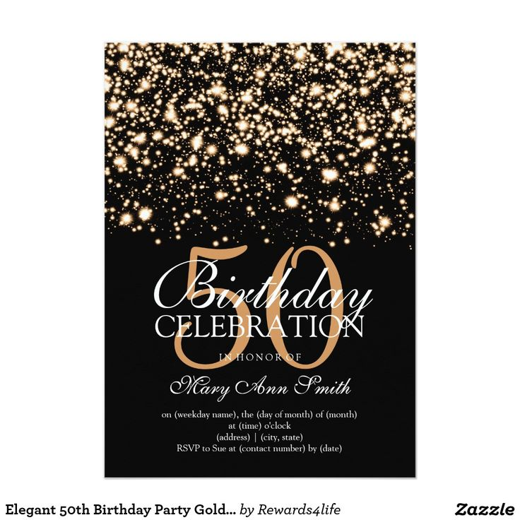 Best 25 50th birthday party invitations ideas – Invitations for a 50th Birthday Party