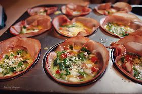 Ham egg cups, Egg cups and Hams on Pinterest