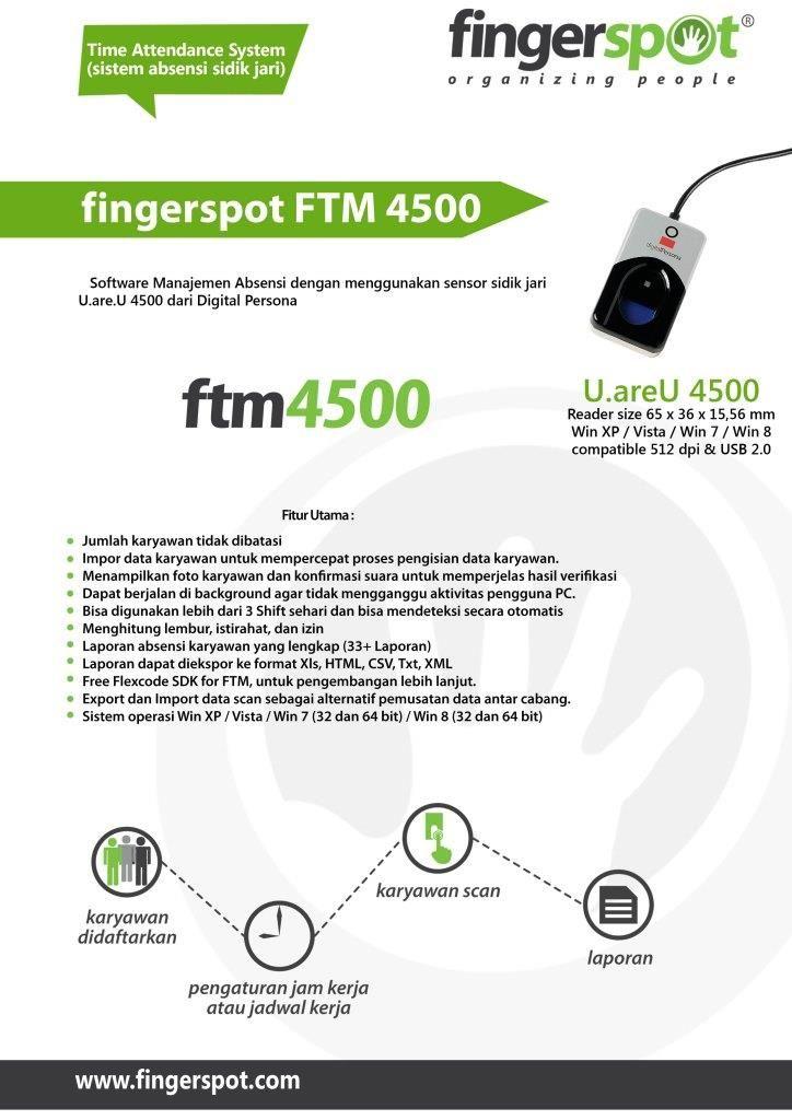 Absensi U are U 4500 dengan Aplikasi FTM 4500