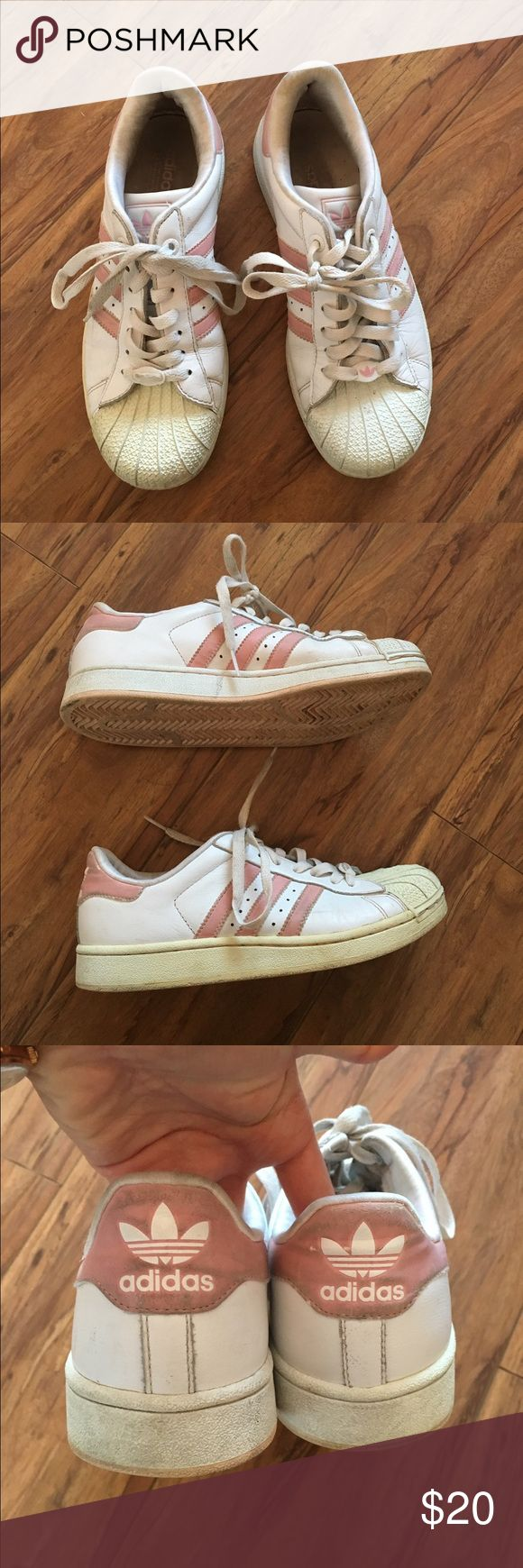 Pink Adidas Superstar Sneakers