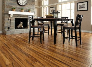 Handscraped Antique Strand Bamboo. Bet the best of old and new with this classic floor made with a renewable resource!