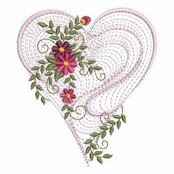 Rippled Floral Heart 2, 7 - 3 Sizes! | Floral - Flowers | Machine Embroidery Designs | SWAKembroidery.com Ace Points Embroidery