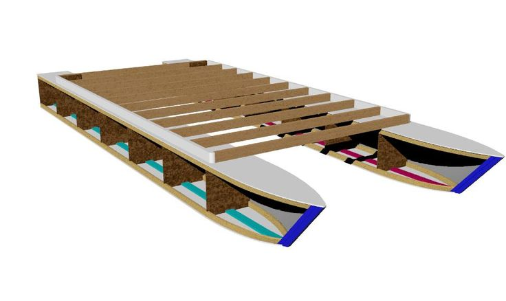 Pontoon Boat Plans Easy to build from common lumber. Get your set of Pontoon Boat Plans.
