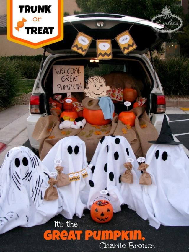 I just like the ghosts... For the traditional door-to-door trick or treat in the neighborhood