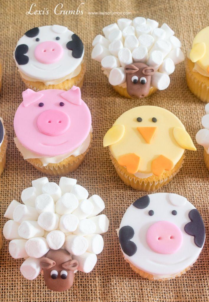 Farmyard cupcakes www.lexiscrumbs.com