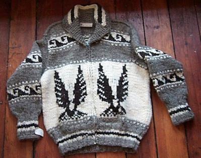 Want! Cowichan Sweater: Eagle Design