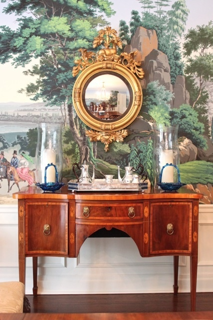 Zuber wallpaper and Georgian furniture
