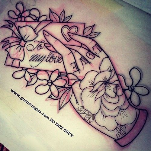 love the tattooed hand, not necessarily the romance part