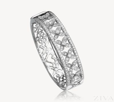 Exquisite Art Deco Diamond Bangle Bracelet